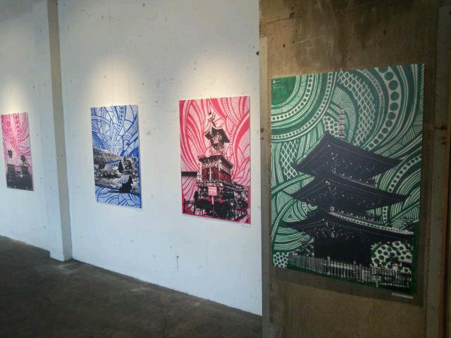 写真:高山市出身のグラフィックデザイナー 蒲優祐氏の展示会 同年代で活躍している方の一人